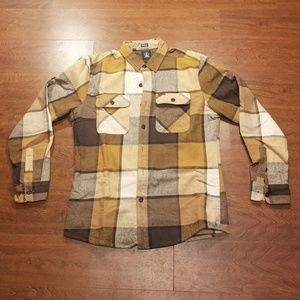 Volcom Plaid Flannel Shirt Jacket